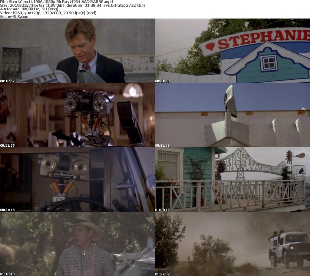 Short Circuit 1986 1080p Bluray H264 Aac Rarbg Scene Release Robots Links Screenshot Imdb Subtitle
