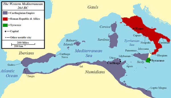 Peperangan Terlama dalam Sejarah Manusia, Perang Sisilia (331 tahun)